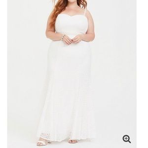 Torrid Ivory Lace Mermaid Wedding Dress 26W NWT